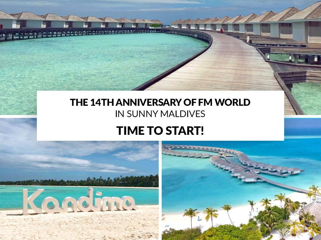 14th Anniversary in Maldives – TIME TO START!