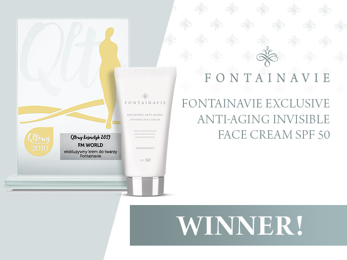 Qltowy Kosmetyk 2019 for Fontainavie Exclusive anti-aging invisible face cream SPF 50
